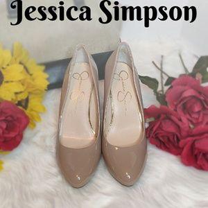 JESSICA SIMPSON nude patent pumps - Malia